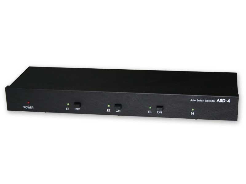 Automatyczny przełącznik sygnału AV typ ASD-4 /cztery wejścia/ dwa wejścia